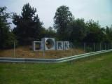Installation, gesägt aus belgischer Granit,