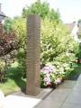 Brunnenstele, 184 cm x 18 cm x 24 cm, integriertes Becken
